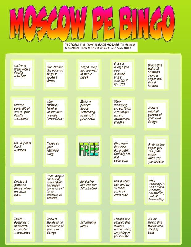Copy of PE bingo2